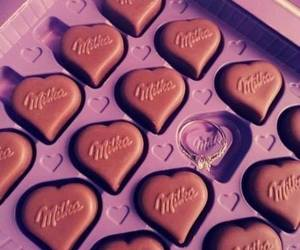 milka, chocolate, and ring image