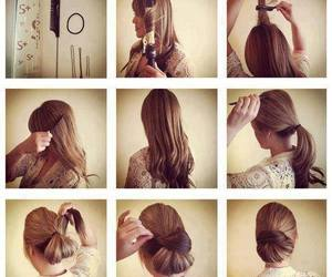 beautiful, cheveux, and makeup image