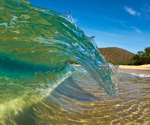 waves, beach, and summer image