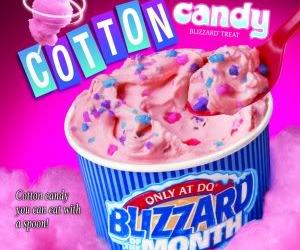 blizzard, cotton candy blizzard, and candy image