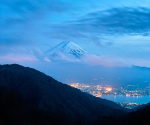 lights, mountain, and sky image