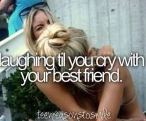 best friends, laugh, and friends image