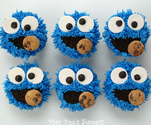cookie monster and cupcakes image