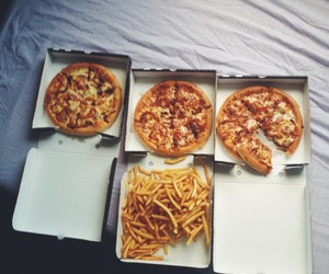 pizza, food, and fries image