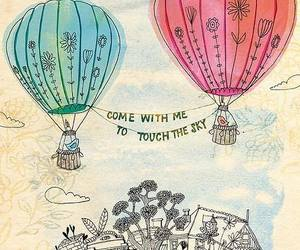 sky, quotes, and balloons image