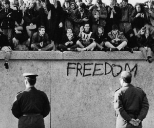 freedom, wall, and berlin image