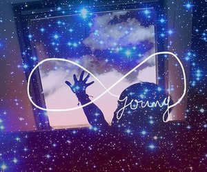 young, infinity, and galaxy image