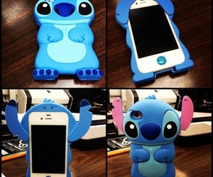 stitch, iphone, and blue image