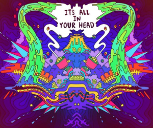 trippy, art, and psychedelic image