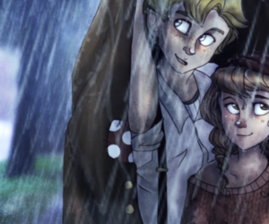 the book thief, rudy, and liesel and rudy image