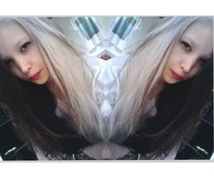 girl, hair, and rock image