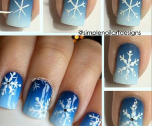 blue, nail, and winter image
