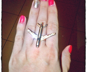 airplane, gold, and fly image