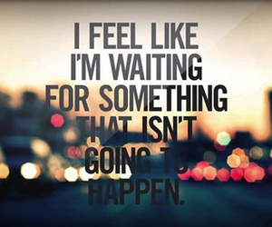 quote, waiting, and text image