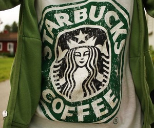 starbucks, coffee, and shirt image