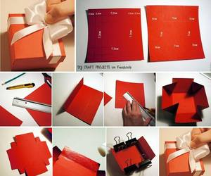 box, diy, and red image