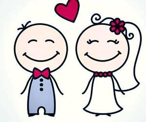 couple, heart, and cute image