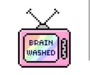 tv, brain, and overlay image