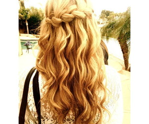 blonde, braid, and blondehair image