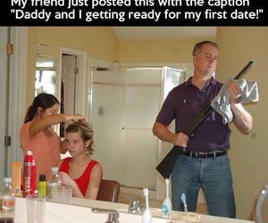 dad, funny, and first date image