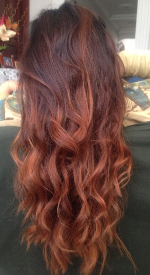 Brown To Red Ombre Hair On We Heart It
