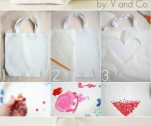 bag, diy, and heart image