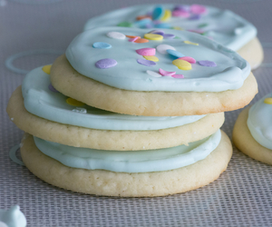 blue, Cookies, and sugar image