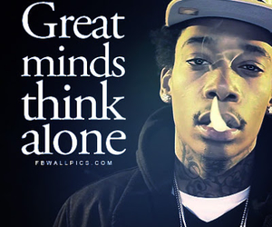 quote, wiz khalifa, and alone image