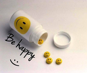 happy, smile, and pills image
