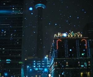 city, winter, and night image