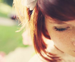 girl, freckles, and redhead image