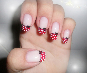 nails, red, and bow image
