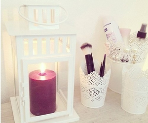 candle, room, and white image