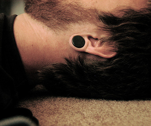Plugs and boy image