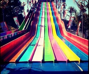 slide, colors, and fun image