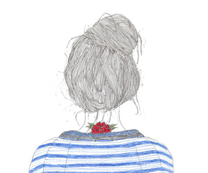 girl, drawing, and tattoo image