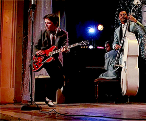 Back to the Future, guitar, and michael j fox image