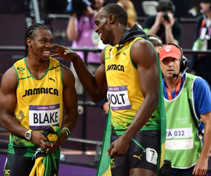 athletics, bolt, and fast image