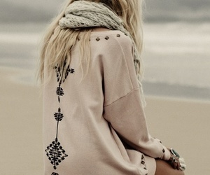beach, sweater, and blonde image