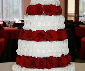 cakes, red, and roses image