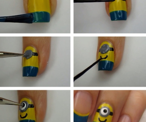 nails, minions, and diy image