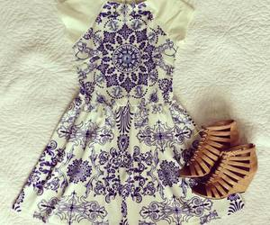 outfit, blue, and dress image