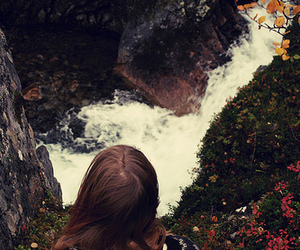 autumn, water, and girl image