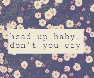 baby, cry, and flowers image