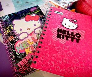 hello kitty, notebook, and cute image