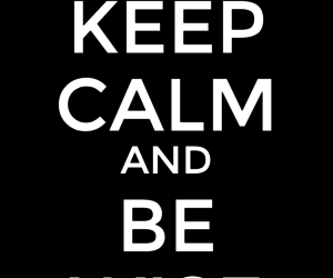 b&w, keep, and keep calm image