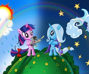 my little pony, trixie, and twilight sparkle image