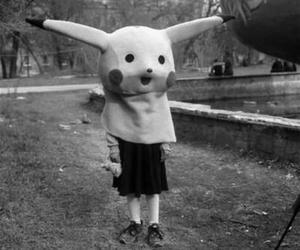 pikachu, black and white, and pokemon image