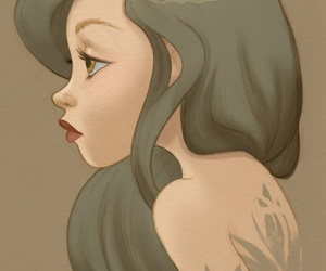 girl and hair image