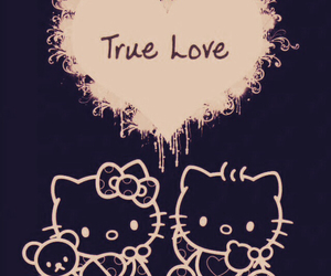 hello kitty, true love, and cute image